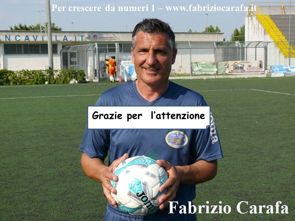 Grazie per l'attenzione Per crescere da numeri 1 – www.fabriziocarafa.it