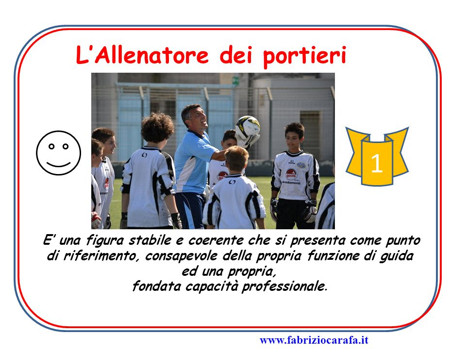 Obiettivi psicomotori Posizionamento Intercettamento Rilancio con le mani Rinvio con i piedi www.fabriziocarafa.it