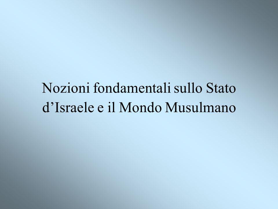 Nozioni fondamentali sullo Stato d'Israele e il Mondo Musulmano