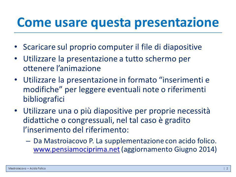 Come usare questa presentazione Scaricare sul proprio computer il file di diapositive Utilizzare la presentazione a tutto schermo per ottenere l'anima