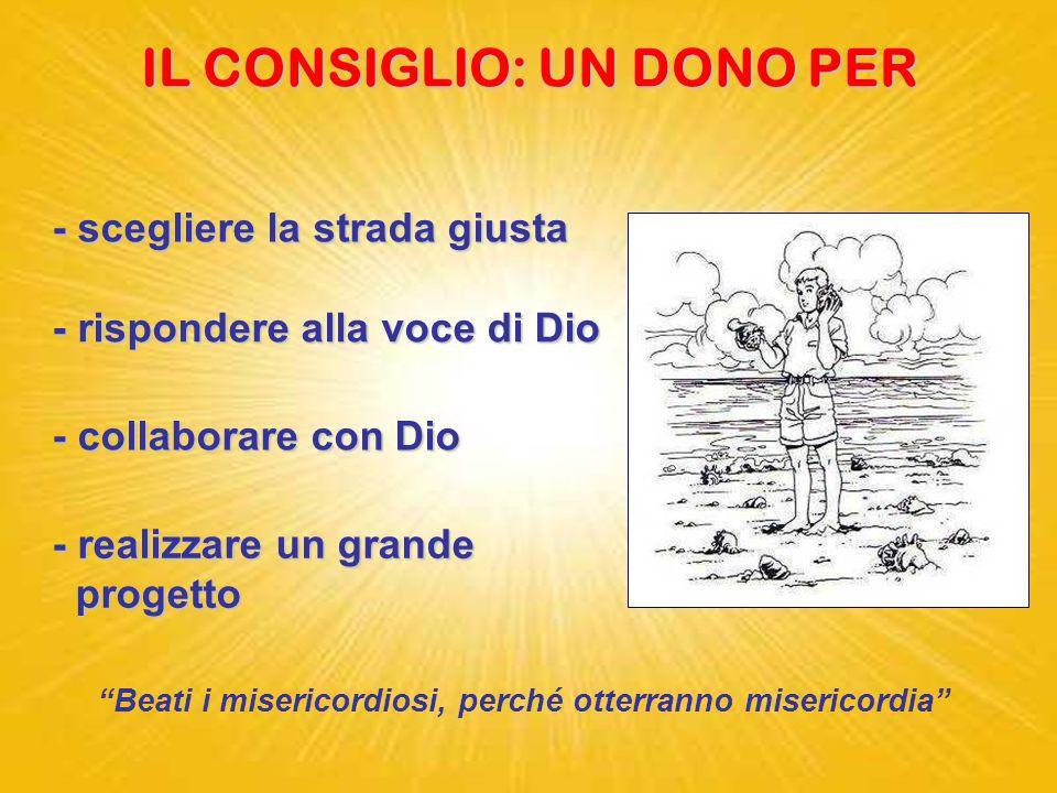 """CONSIGLIO dal latino """"consulere"""" = decidere Benedicoil Signore Benedico il Signore che mi ha dato consiglio; anche di notte il mio cuore mi istruisce."""