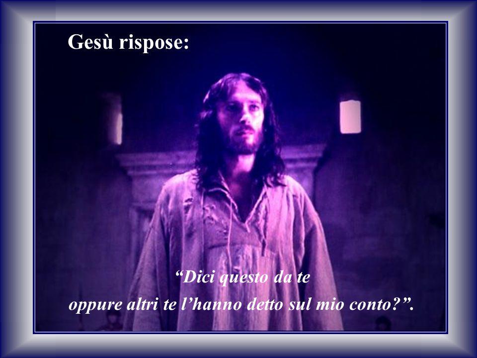 """Gesù rispose: """"Dici questo da te oppure altri te l'hanno detto sul mio conto?""""."""
