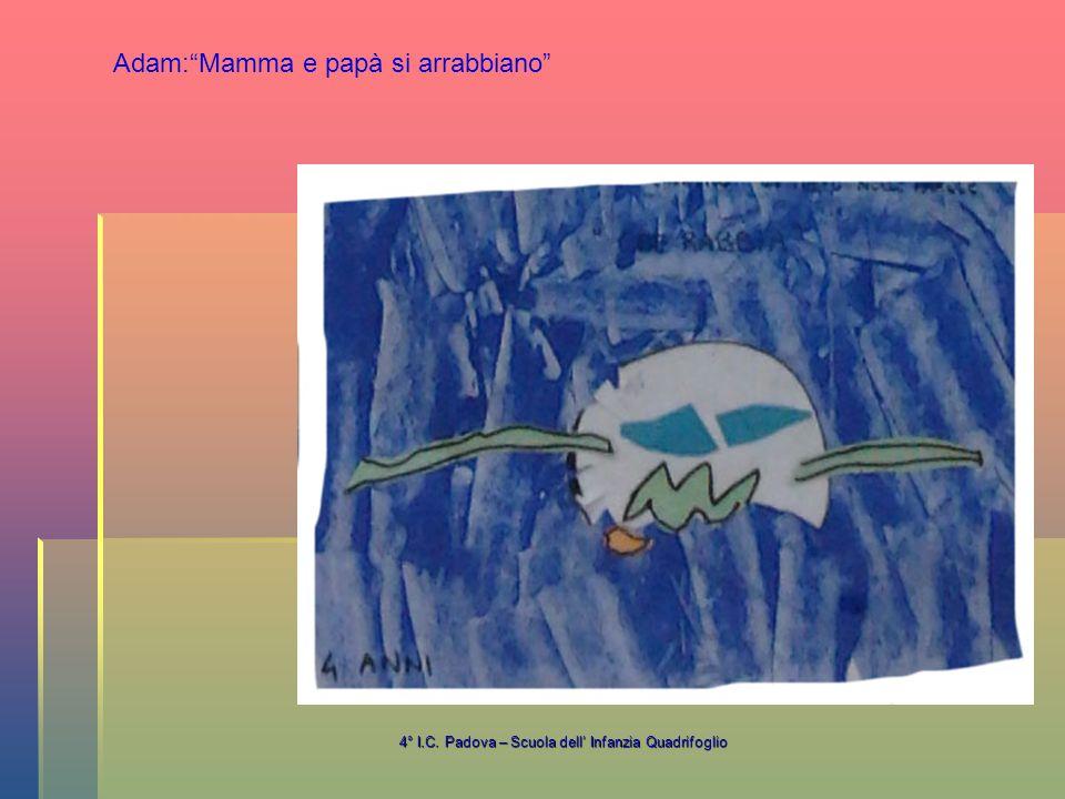 4° I.C. Padova – Scuola dell' Infanzia Quadrifoglio Adam: Mamma e papà si arrabbiano