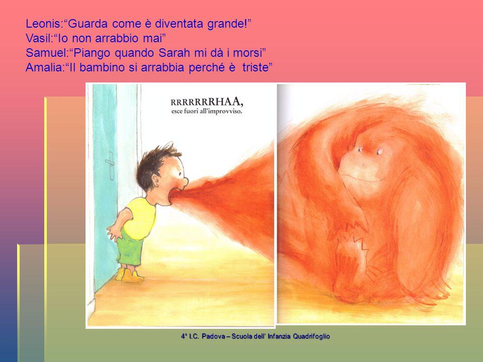 4° I.C.Padova – Scuola dell' Infanzia Quadrifoglio Ghruuu… Quando siete arrabbiati, cosa fate.