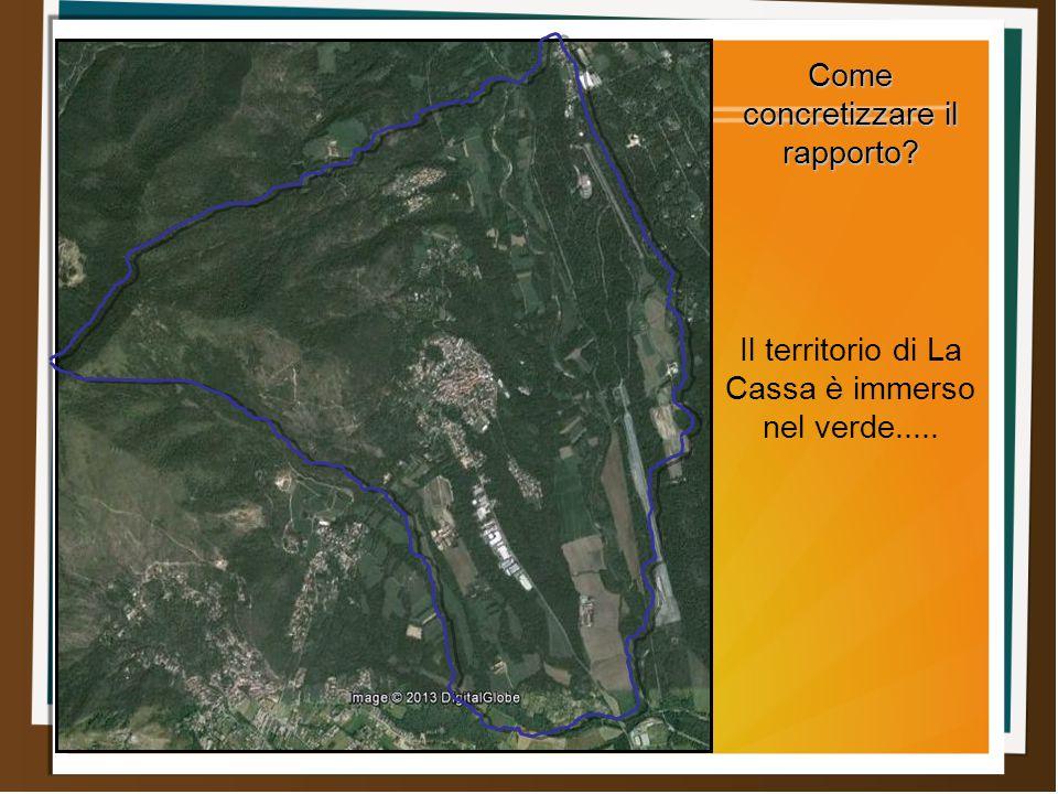 Come concretizzare il rapporto Il territorio di La Cassa è immerso nel verde.....