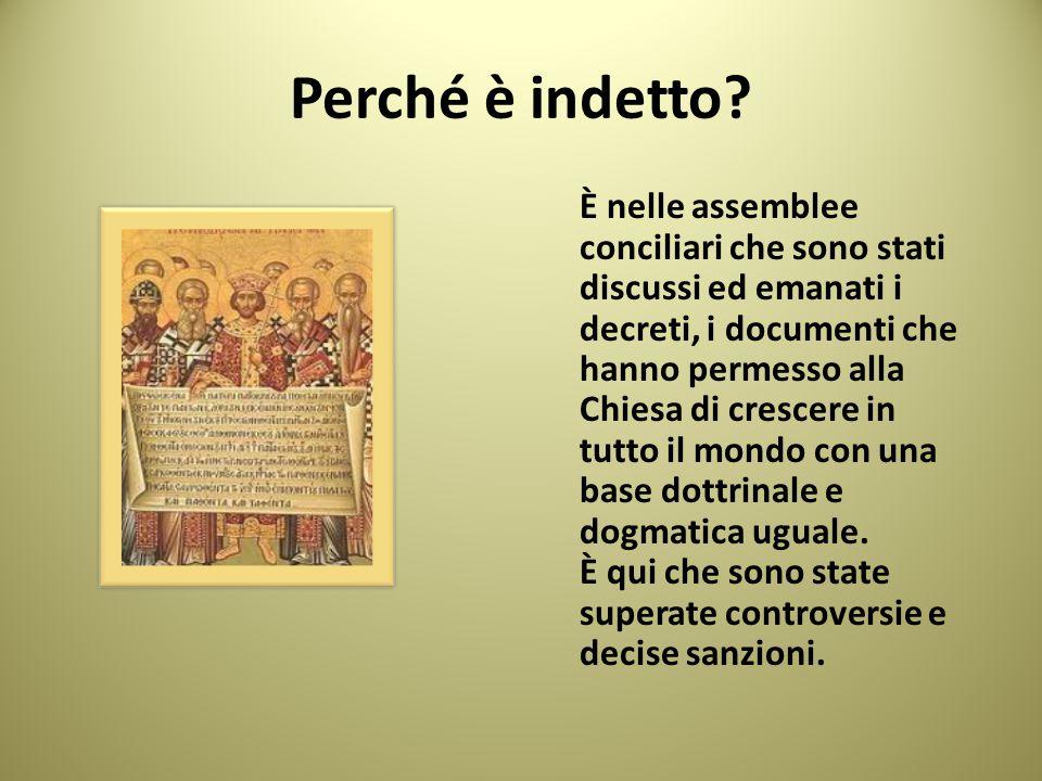 Il concilio per eccellenza è quello ecumenico ( o universale ) Sono assemblee di tutti i vescovi della Chiesa cattolica, ai quali si aggiungono i cardinali e i superiori generali delle congregazioni religiose.