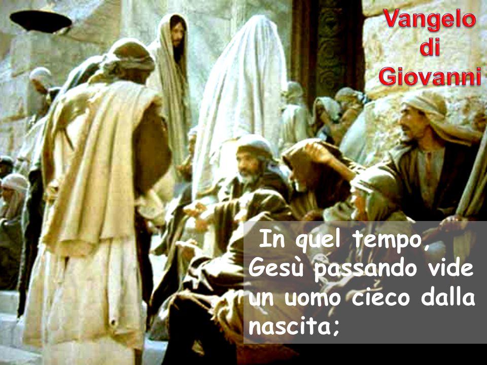 e i suoi discepoli lo interrogarono: «Rabbì, chi ha peccato, lui o i suoi genitori, perché sia nato cieco?».
