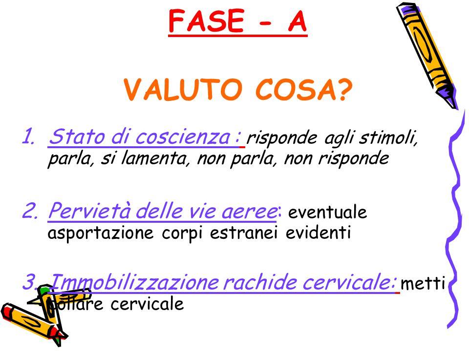 FASE - A VALUTO COSA.