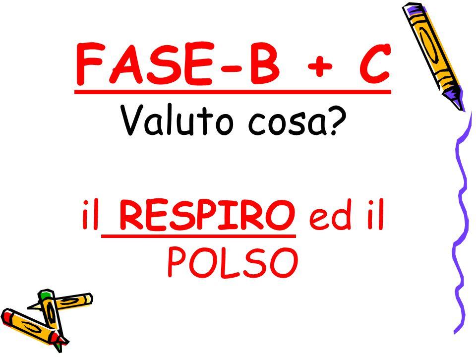 FASE-B + C Valuto cosa? il RESPIRO ed il POLSO