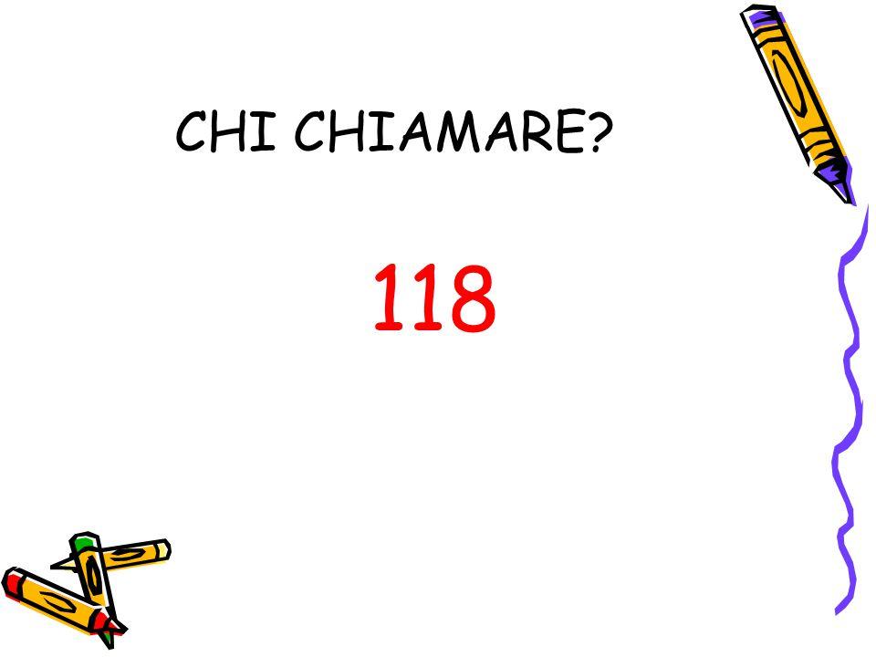 CHI CHIAMARE? 118