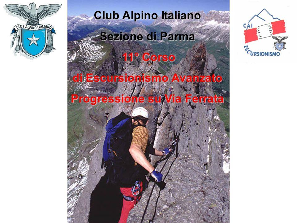 Club Alpino Italiano Sezione di Parma 11° Corso 11° Corso di Escursionismo Avanzato Progressione su Via Ferrata