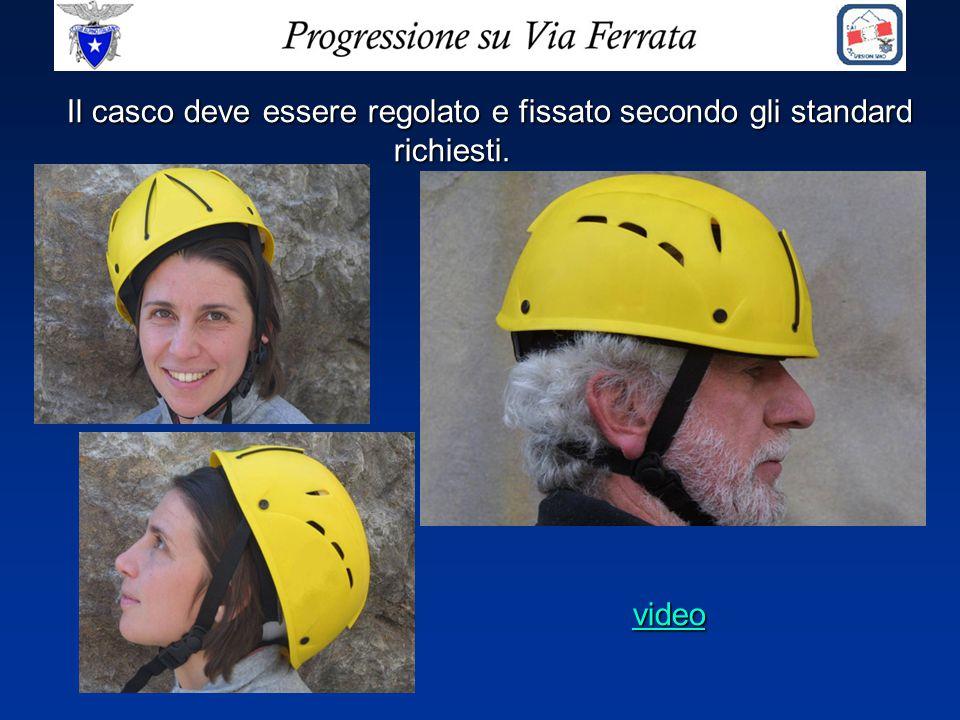 Il casco deve essere regolato e fissato secondo gli standard richiesti. video