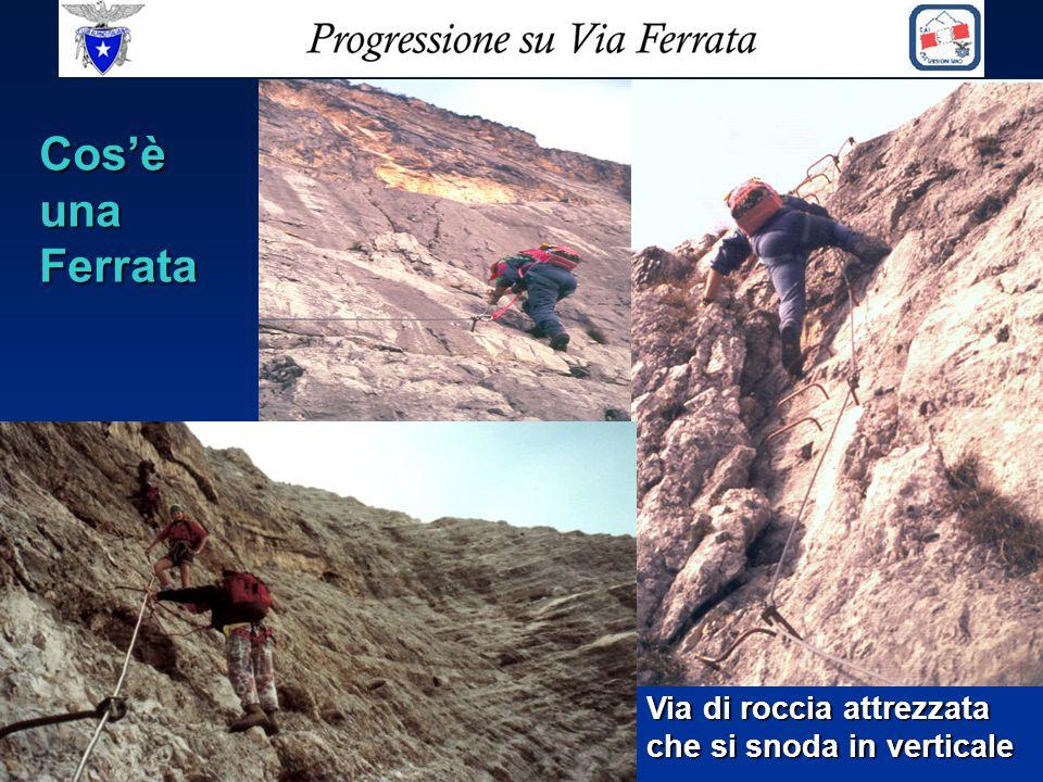 Breve storia delle 'vie ferrate' La prima ferrata in Italia è apparsa agli inizi del 1900 sulla Cresta occidentale della Marmolada col nome di Hans Seyffert Weg - Punta Penia m.