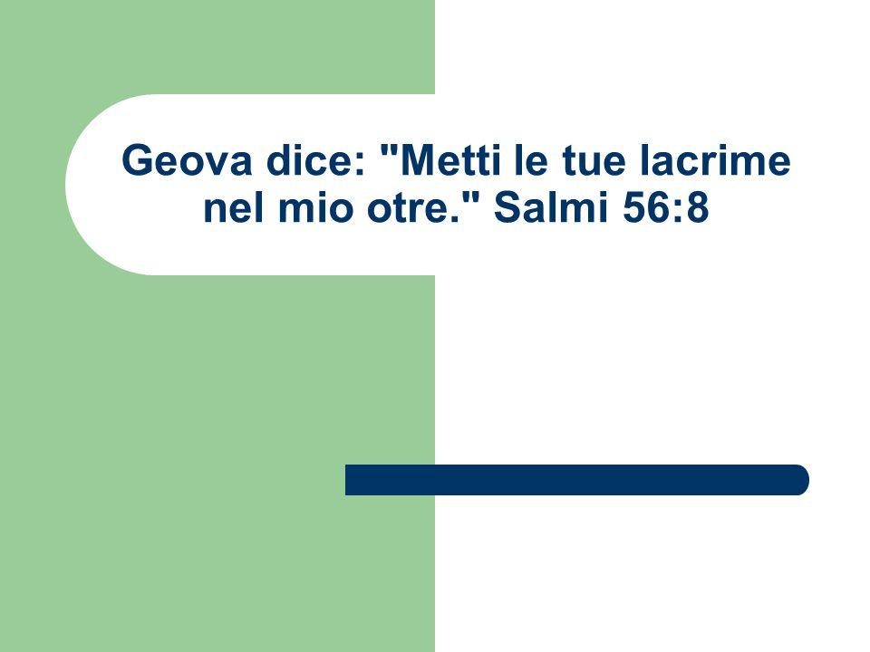 Geova dice: