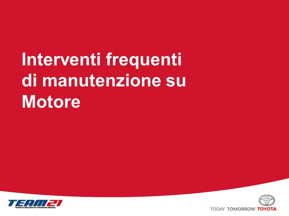 Toyota Motor Italia – A/S Training Contenuti Sostituzione della cinghia di trasmissione Sostituzione della guarnizione testata Regolazione del gioco delle valvole Filtro del gasolio