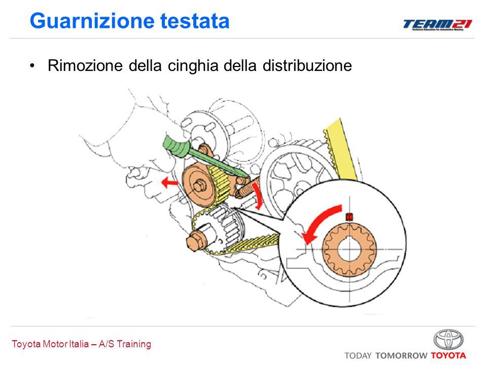 Toyota Motor Italia – A/S Training Rimozione della cinghia della distribuzione Guarnizione testata