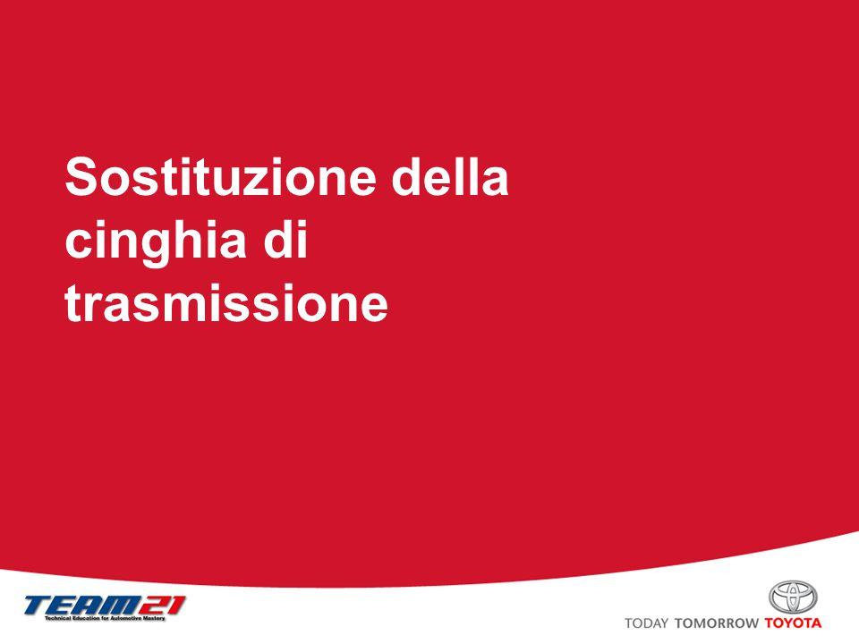 Toyota Motor Italia – A/S Training Cinghia di trasmissione Tipo con puleggia di rinvio, –Viene utilizzata una puleggia di rinvio per applicare tensione alla cinghia