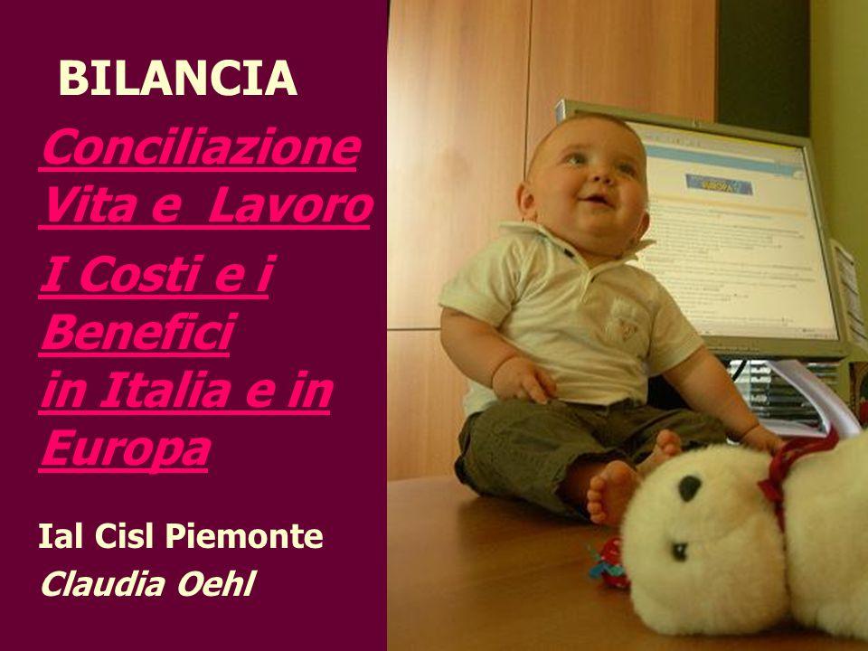 BILANCIA Conciliazione Vita e Lavoro I Costi e i Benefici in Italia e in Europa Ial Cisl Piemonte Claudia Oehl