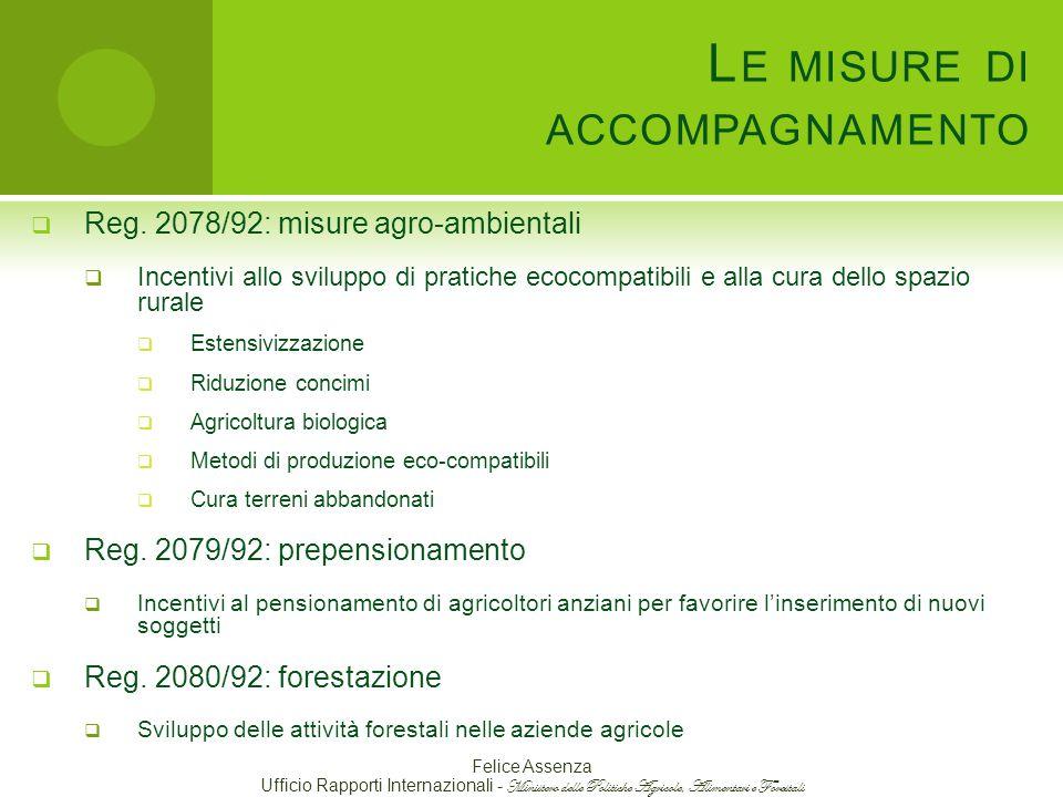 L E MISURE DI ACCOMPAGNAMENTO  Reg.