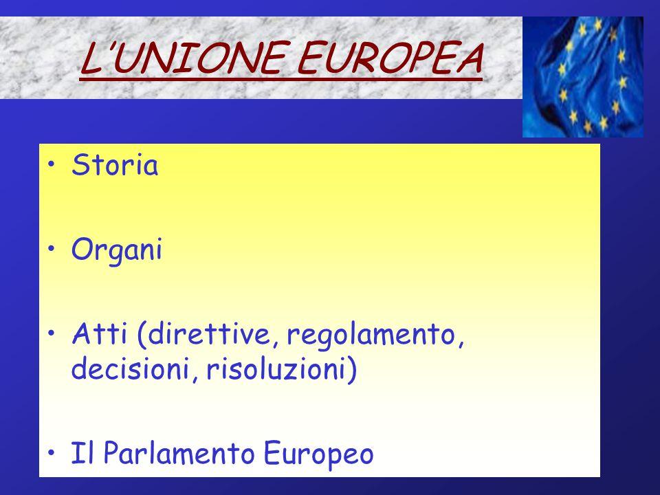 IL CONSIGLIO D'EUROPA Natura Organi In particolare:  La Corte Europea dei diritti dell'uomo