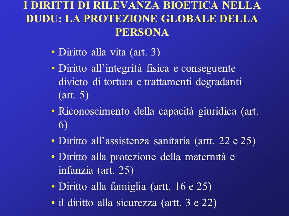 … segue il diritto alla libertà (artt.3-4) il diritto alla giustizia (artt.
