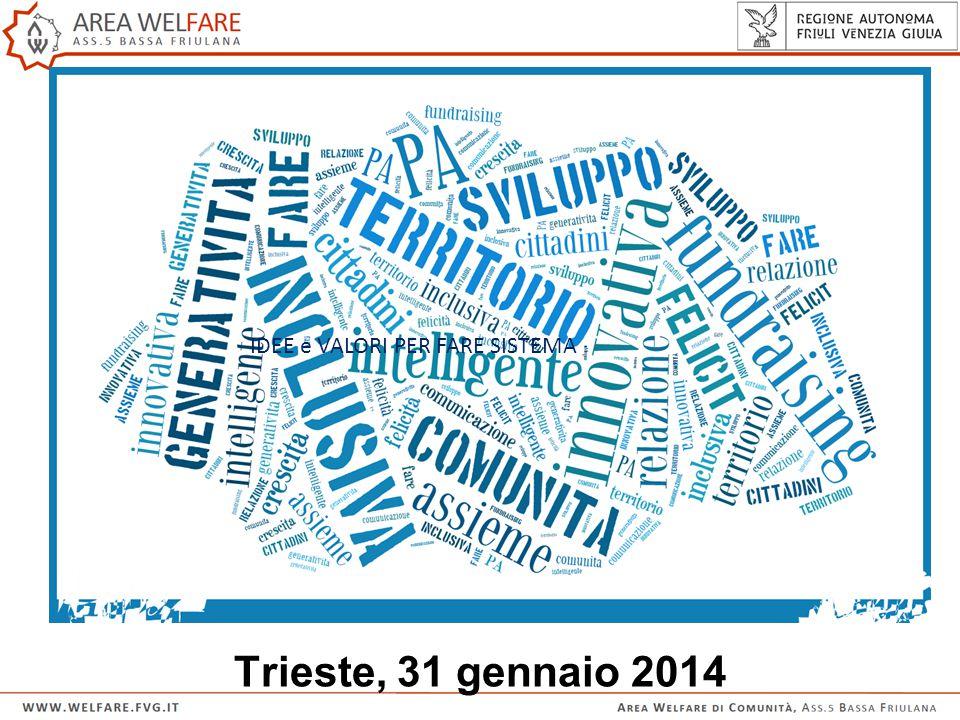 Trieste, 31 gennaio 2014 IDEE e VALORI PER FARE SISTEMA