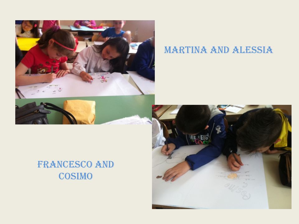 MARTINA and ALESSIA FRANCESCO and COSIMO