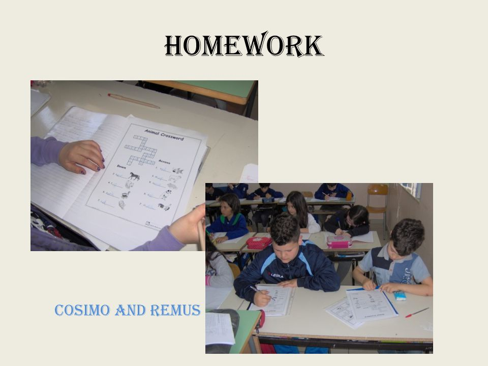 HOMEWORK COSIMO and REMUS