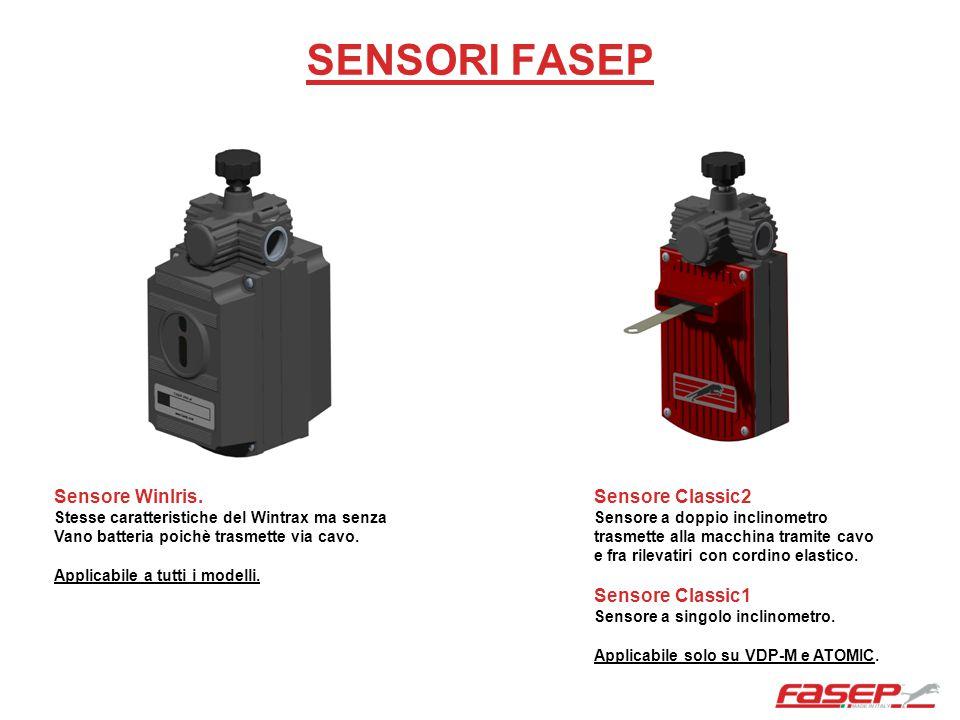 SENSORI FASEP Sensore WinIris. Stesse caratteristiche del Wintrax ma senza Vano batteria poichè trasmette via cavo. Applicabile a tutti i modelli. Sen