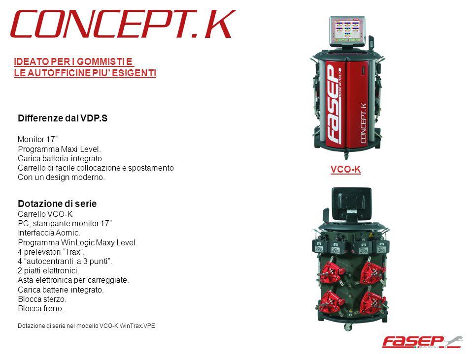 """Differenze dal VDP.S Monitor 17"""" Programma Maxi Level. Carica batteria integrato Carrello di facile collocazione e spostamento Con un design moderno."""