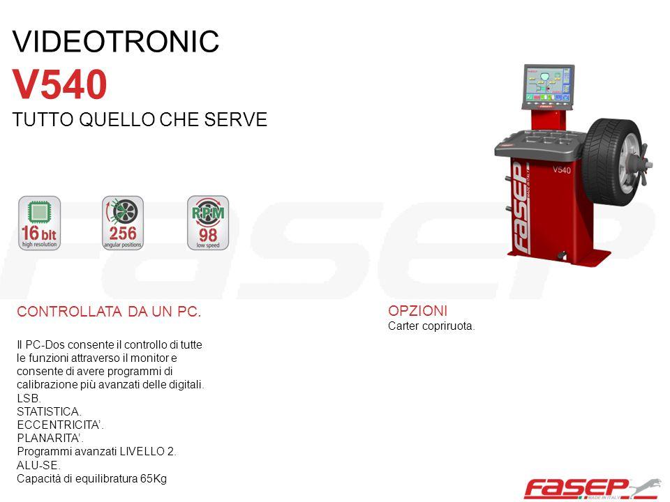 CONTROLLATA DA UN PC. Il PC-Dos consente il controllo di tutte le funzioni attraverso il monitor e consente di avere programmi di calibrazione più ava