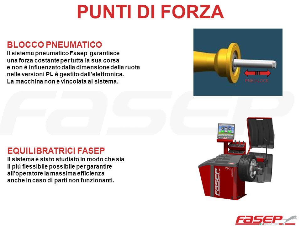 PNEU-LOCK BLOCCO PNEUMATICO Il sistema pneumatico Fasep garantisce una forza costante per tutta la sua corsa e non è influenzato dalla dimensione dell