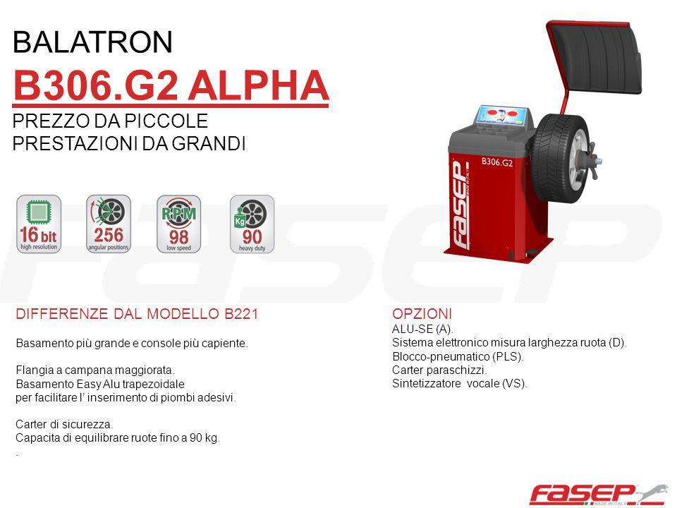 DIFFERENZE DAL MODELLO B306 Base elegante, console dalla linea moderna e funzionale.