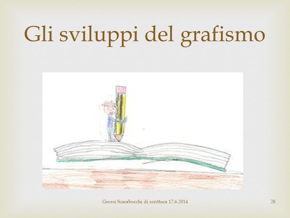 Gli sviluppi del grafismo Grossi Scarabocchi di scrittura 17.6.201428