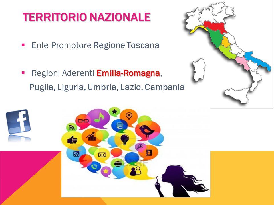  Ente Promotore Regione Toscana Emilia-Romagna  Regioni Aderenti Emilia-Romagna, Puglia, Liguria, Umbria, Lazio, Campania TERRITORIO NAZIONALE