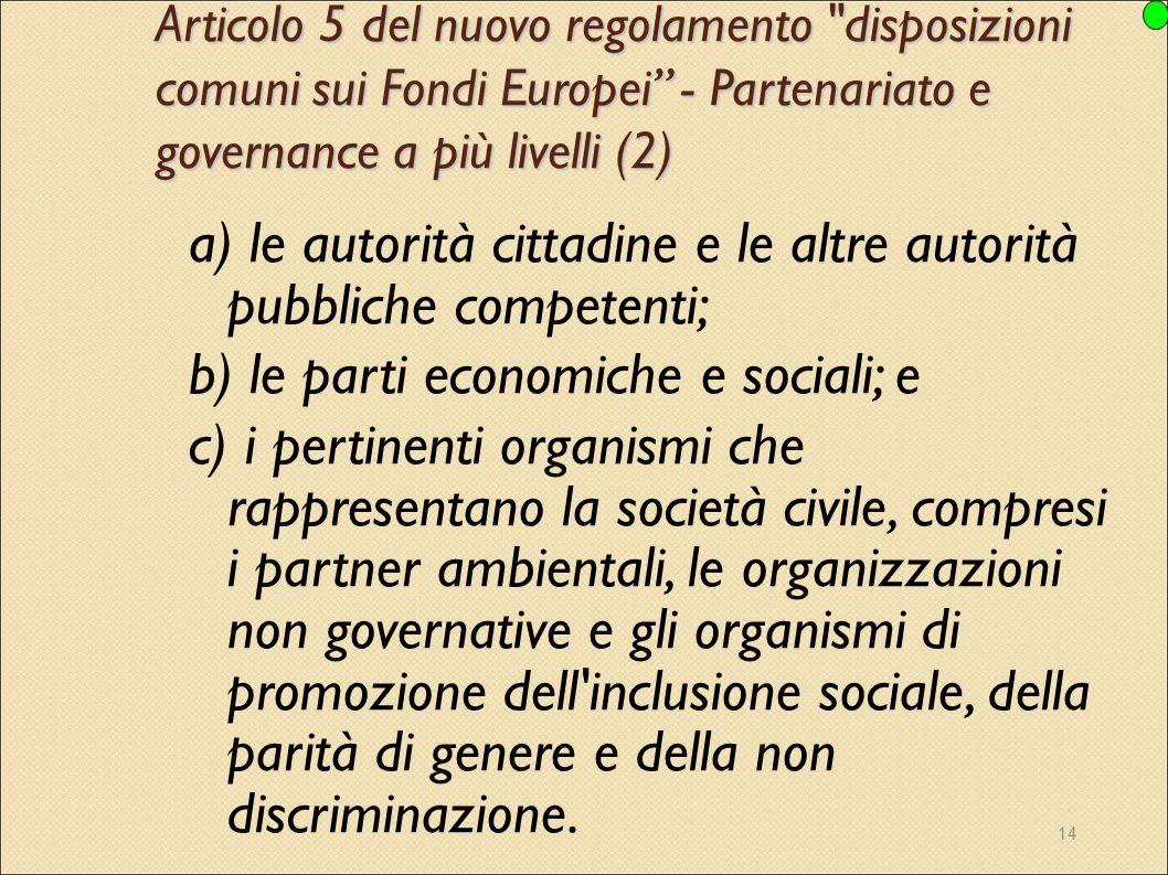 14 Articolo 5 del nuovo regolamento