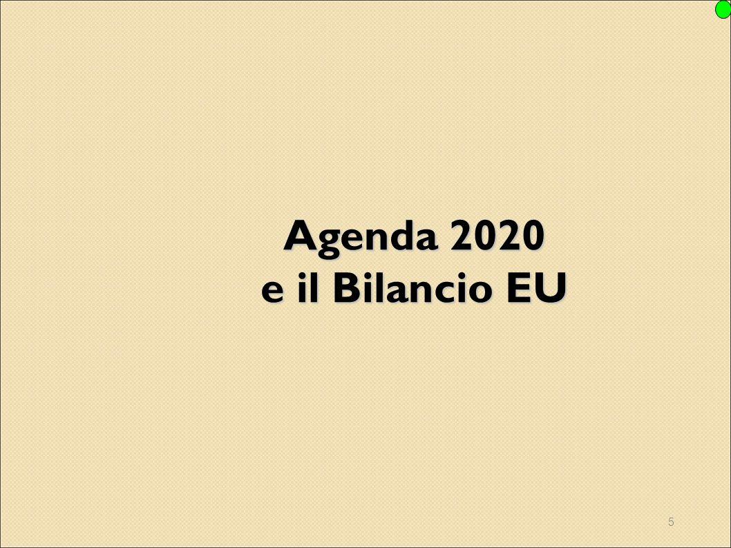 5 Agenda 2020 e il Bilancio EU