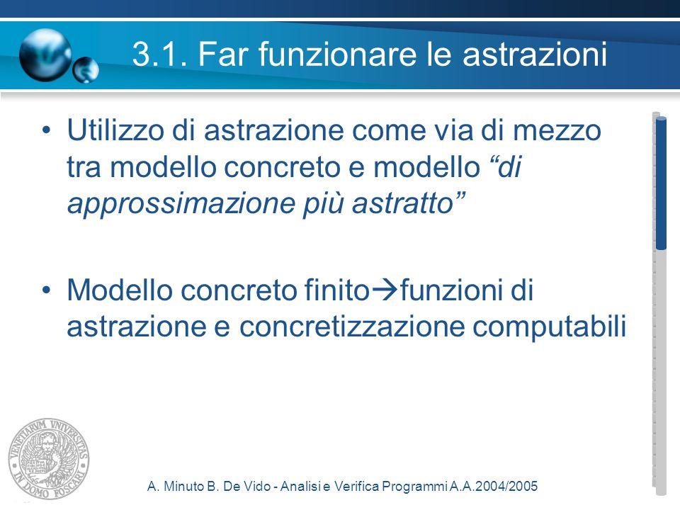 A. Minuto B. De Vido - Analisi e Verifica Programmi A.A.2004/2005 3.1.