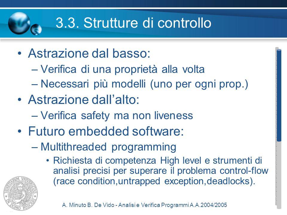 A. Minuto B. De Vido - Analisi e Verifica Programmi A.A.2004/2005 3.3.