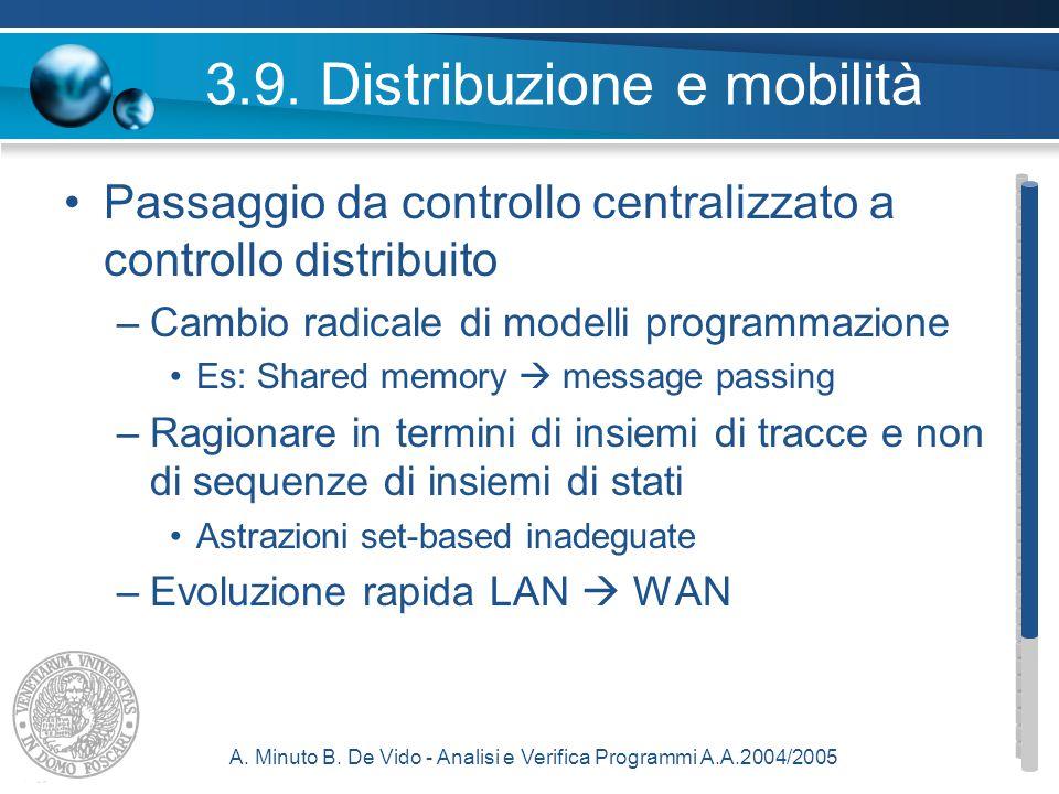 A. Minuto B. De Vido - Analisi e Verifica Programmi A.A.2004/2005 3.9.
