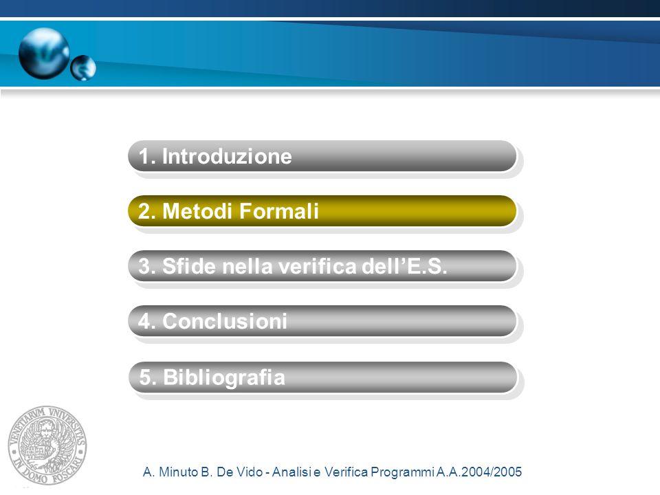 A. Minuto B. De Vido - Analisi e Verifica Programmi A.A.2004/2005 1.