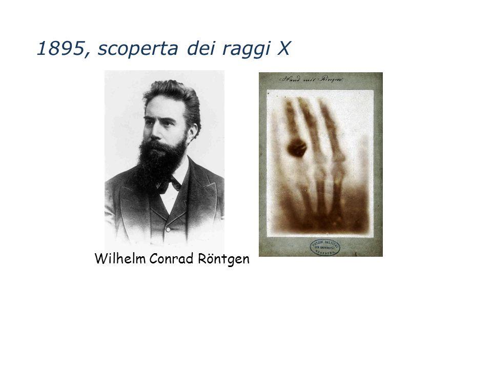 Wilhelm Conrad Röntgen 1895, scoperta dei raggi X