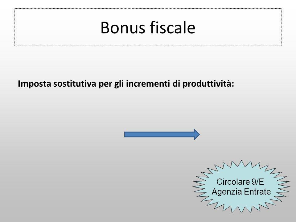 Imposta sostitutiva per gli incrementi di produttività: Circolare 9/E Agenzia Entrate