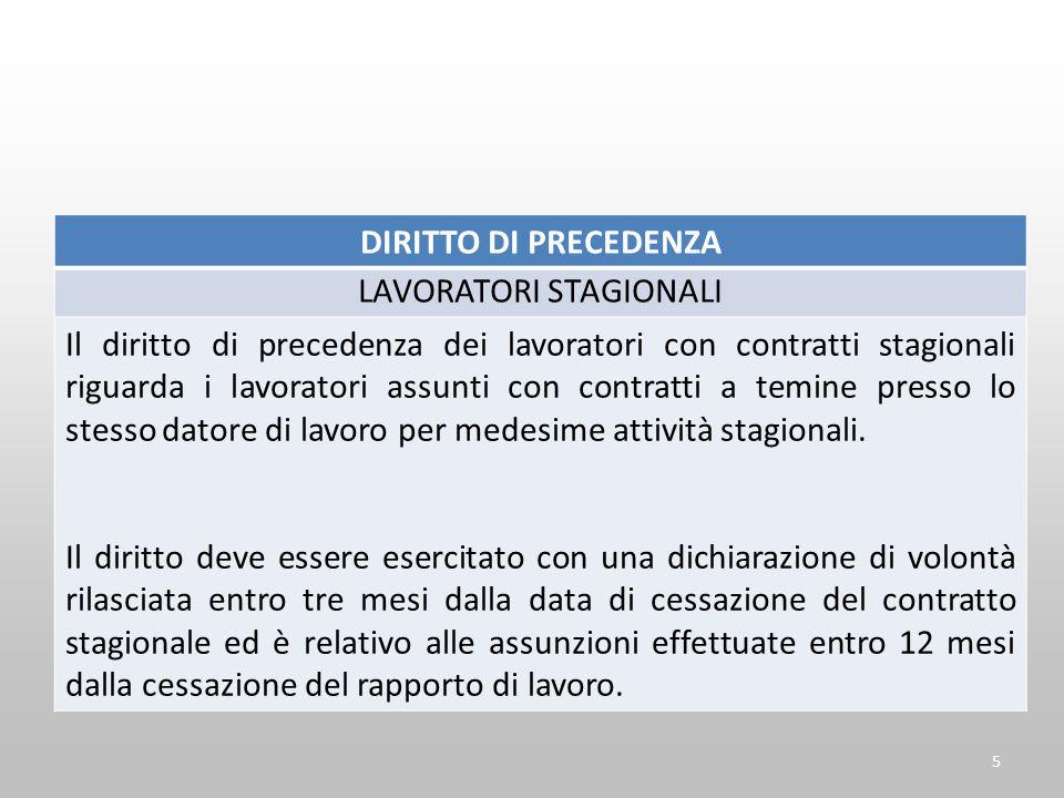 LAVORO A PROGETTO ARTICOLO 7, COMMA 2 D.L. 76/2013 16