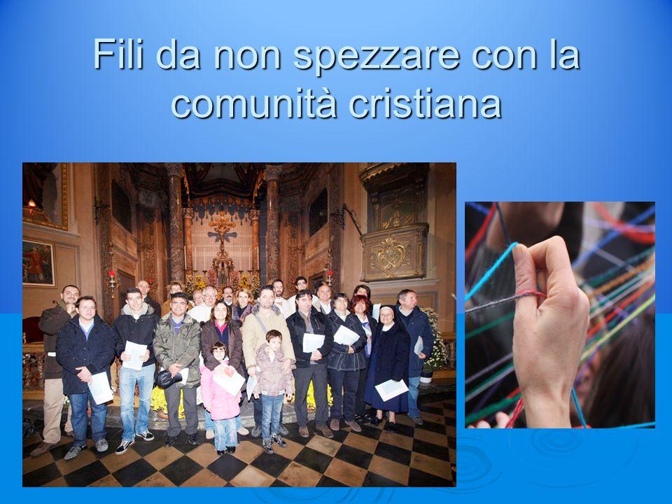 Fili da non spezzare con la comunità cristiana