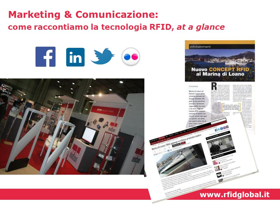 www.rfidglobal.it Marketing & Comunicazione: come raccontiamo la tecnologia RFID, at a glance