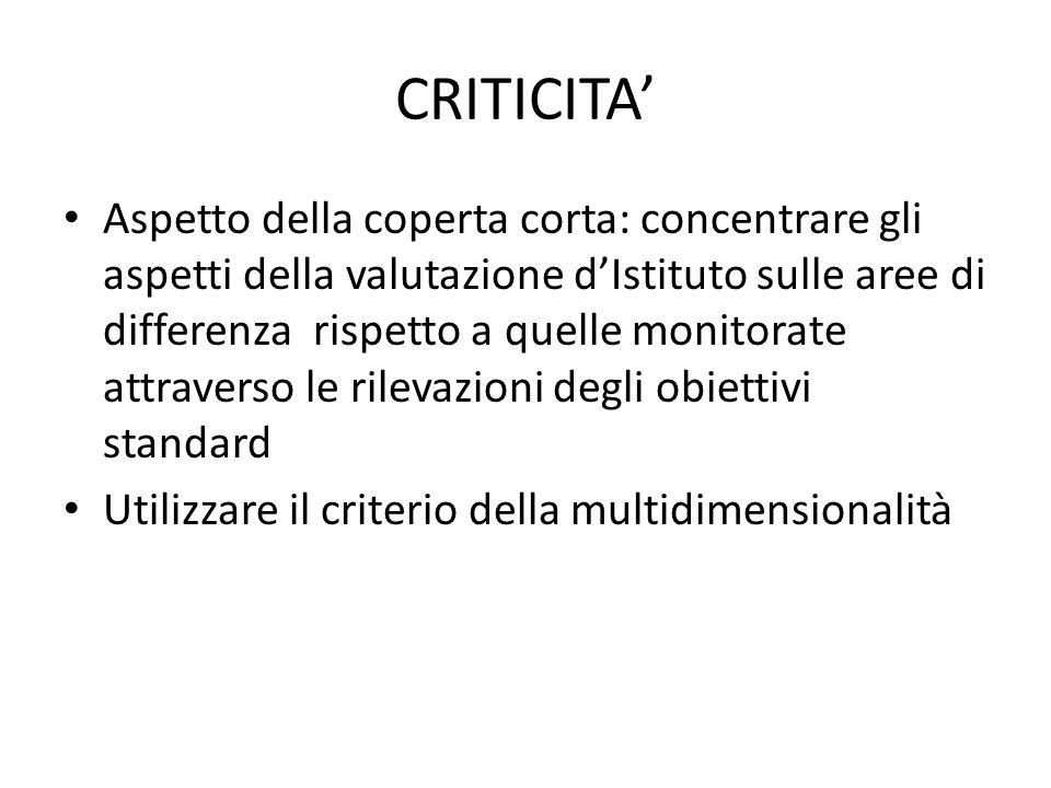 Criticità… Formazione del personale: rivedere e reimpiantare i processi all'interno del mutato quadro organizzativo degli istituti comprensivi.