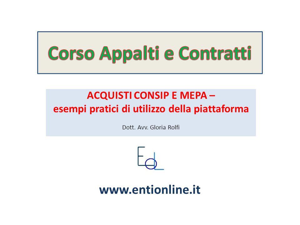 La viticoltura in Franciacorta ACQUISTI CONSIP E MEPA – esempi pratici di utilizzo della piattaforma Dott.