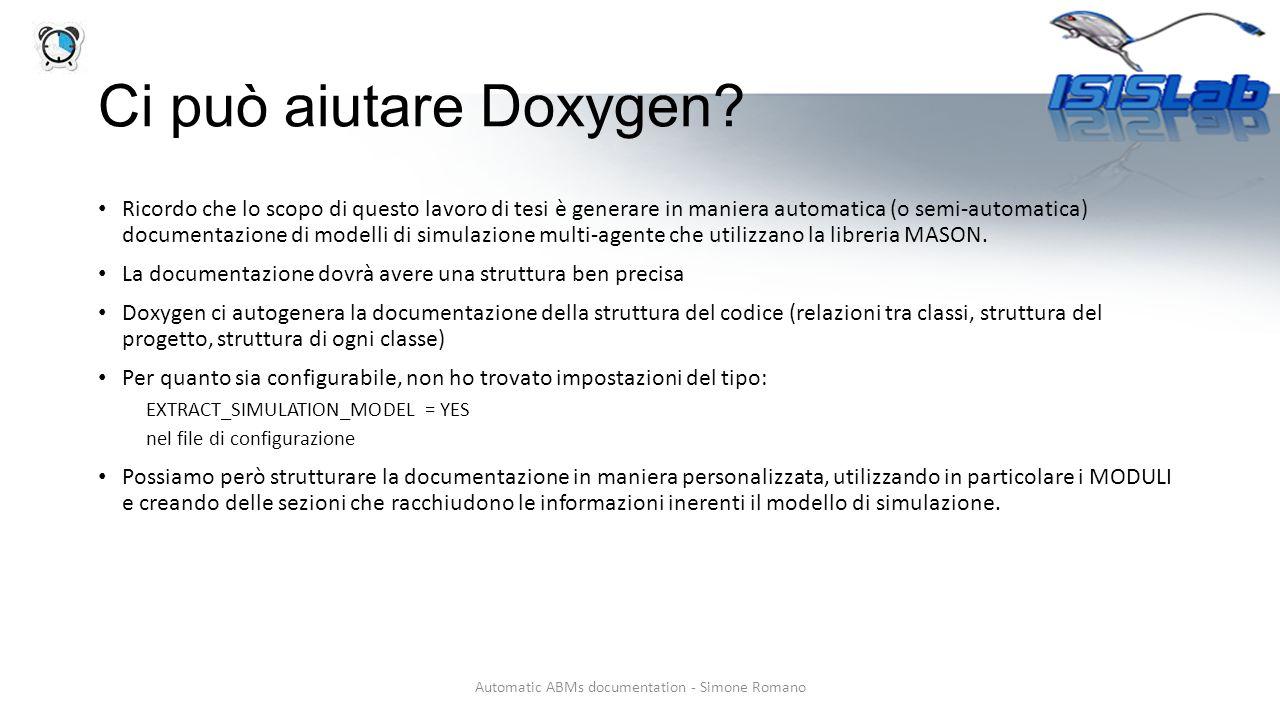 Ci può aiutare Doxygen.