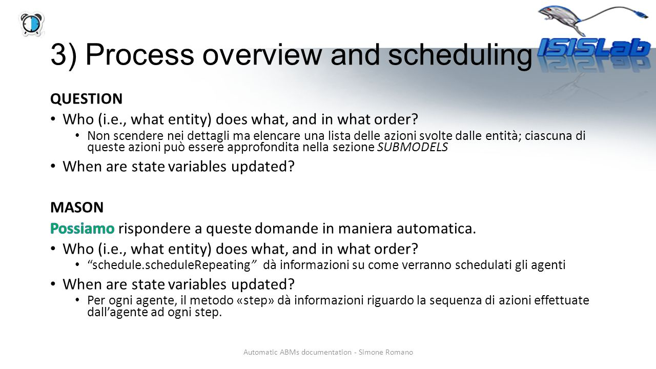 3) Process overview and scheduling Automatic ABMs documentation - Simone Romano
